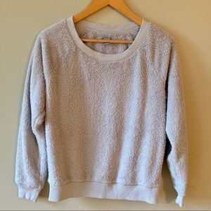 Sweaters - Aerie Sherpa Style Pullover Grey Sweater AE